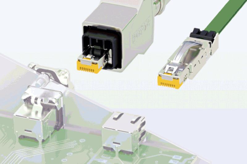 Индустриални кабелни конектори RJ45 за предаване на данни в съответствие с CAT6A