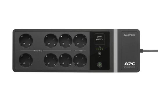 Непрекъсваеми токозахранващи устройства APC Back-UPS 650VA, 230V с 1 USB порт за зареждане