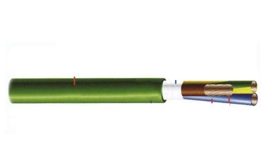Силов безхалогенен кабел с термопластична изолация